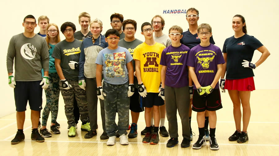 MN Youth Handball U of M handball clinic